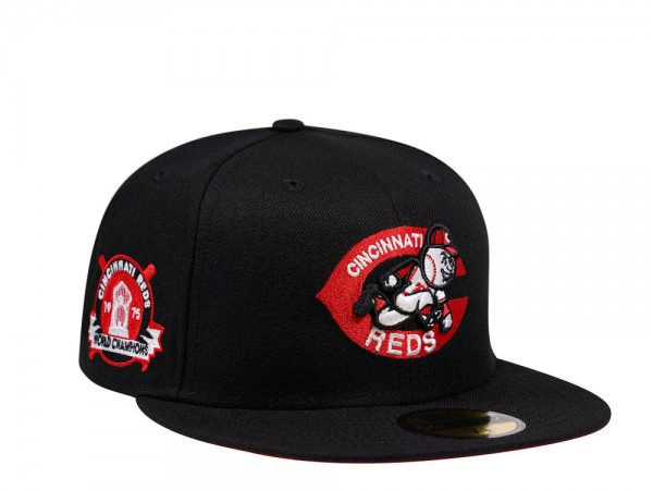 New Era Cincinnati Reds World Champions 1975 Black and Red Edition 59Fifty Fitted Cap