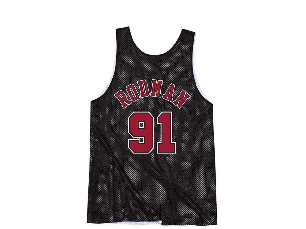 buy popular e5c35 2fbd1 Mitchell & Ness Chicago Bulls Dennis Rodman Reversible Mesh Jersey