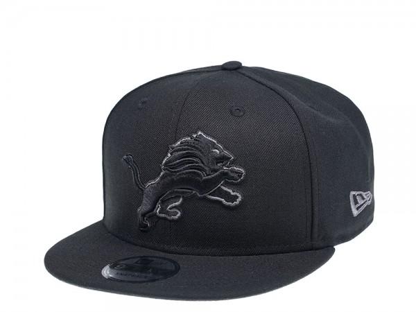 New Era Detroit Lions Black Logo Edition 9Fifty Snapback Cap