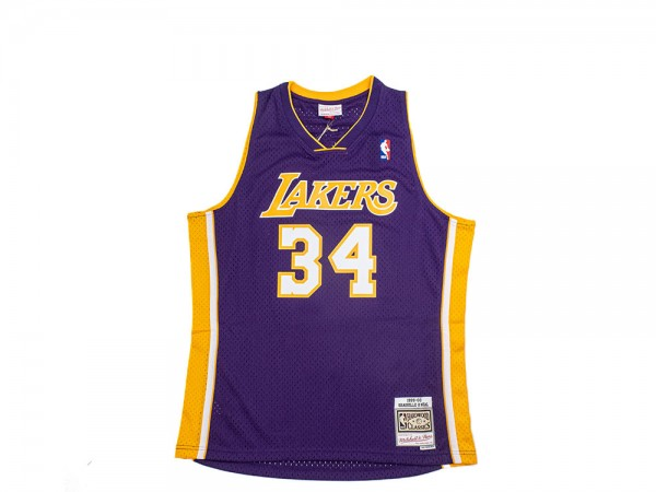 Mitchell & Ness Los Angeles Lakers - Shaquille O'Neal Purple ...
