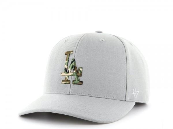 47Brand Los Angeles Dodgers Camo Logo MVP DP Strapback Cap