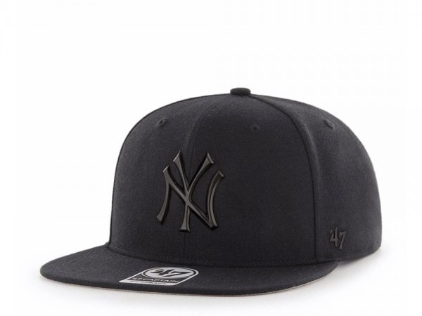 the cheapest good out x 100% high quality 47brand New York Yankees Black Matte Captain Snapback Cap ...
