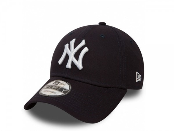 New Era New York Yankees The League 9forty Cap White on Black