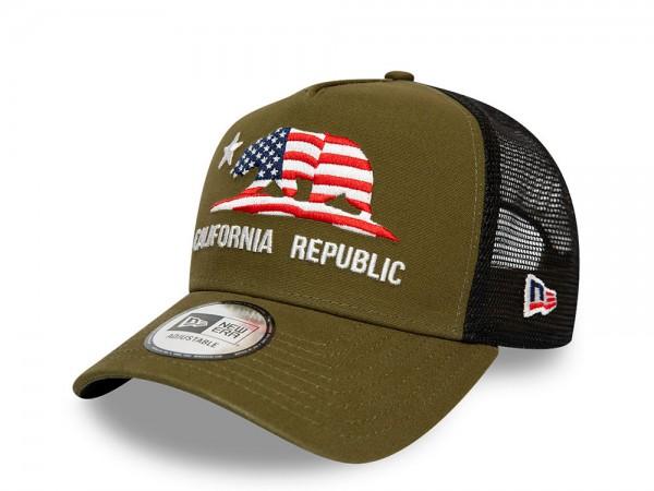New Era Cali Trucker Olive Snapback Cap