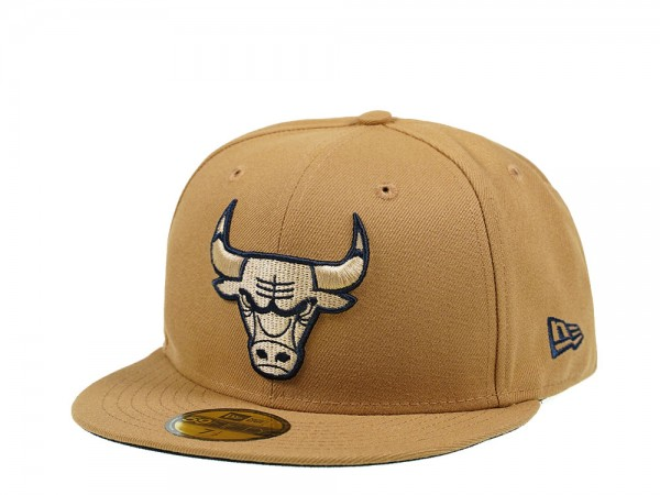 New Era Chicago Bulls Wheat Edition 59Fifty Fitted Cap