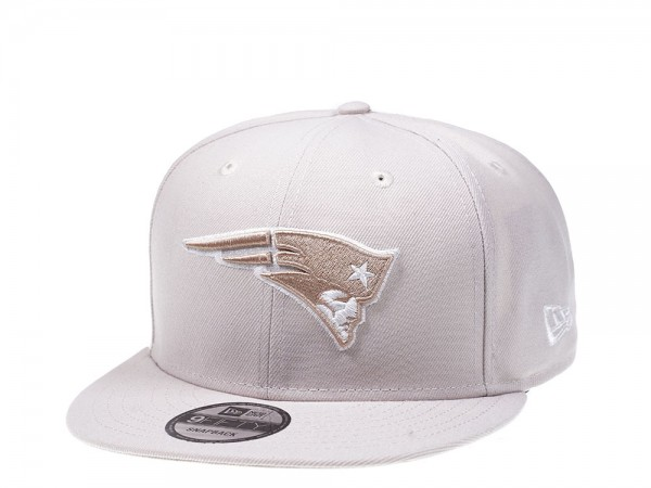 New Era New England Patriots Stone White Edition 9Fifty Snapback Cap