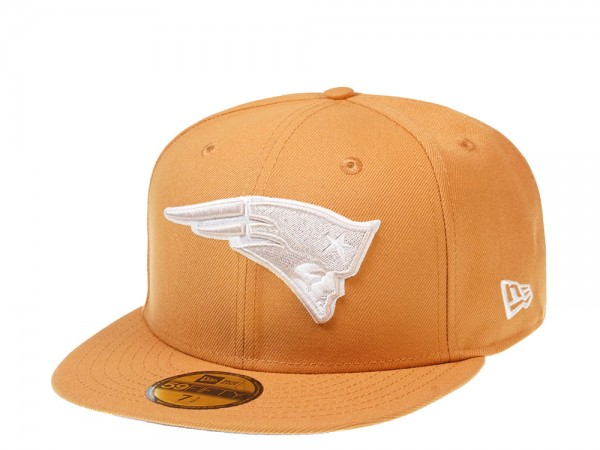 New Era New England Patriots Panama Tan Edition 59Fifty Fitted Cap