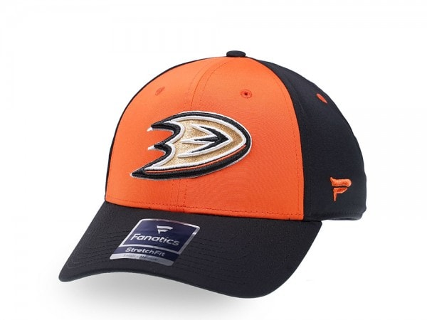 Fanatics Anaheim Ducks Orange Iconic Stretch Fit Cap