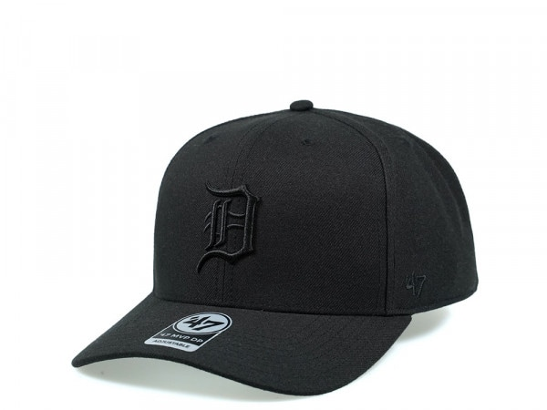47Brand Detroit Tigers Cold Zone MVP DP All Black Snapback Cap