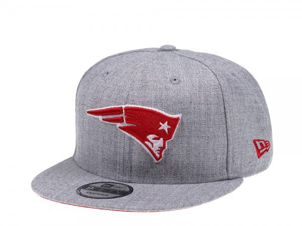 New Era New England Patriots Heather Grey Pop 9Fifty Snapback Cap