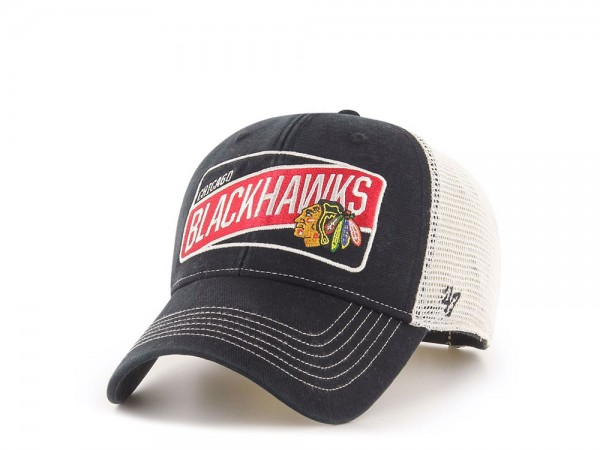 47Brand Chicago Blackhawks Slash Patch Classic Trucker Snapback Cap