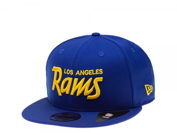 New Era Los Angeles Rams Blue and Yellow Edition 9Fifty Snapback Cap