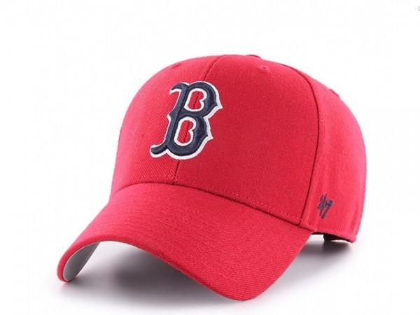 47Brand Boston Red Sox Red MVP Strapback Cap