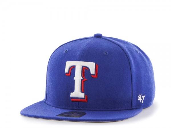 47Brand Texas Rangers Sure Shot Captain Snapback Cap