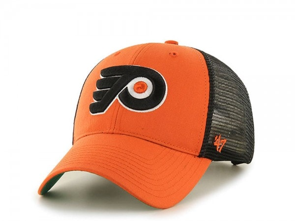 47brand Philadelphia Flyers Orange Trucker Snapback Cap