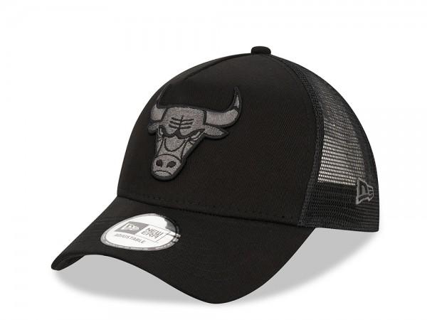 New Era Chicago Bulls Black Graphite Trucker Snapback Cap