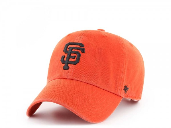 47Brand San Francisco Giants Clean Up Orange Strapback Cap