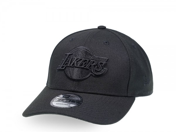 New Era Los Angeles Lakers Black on Black Edition 9Forty Snapback Cap