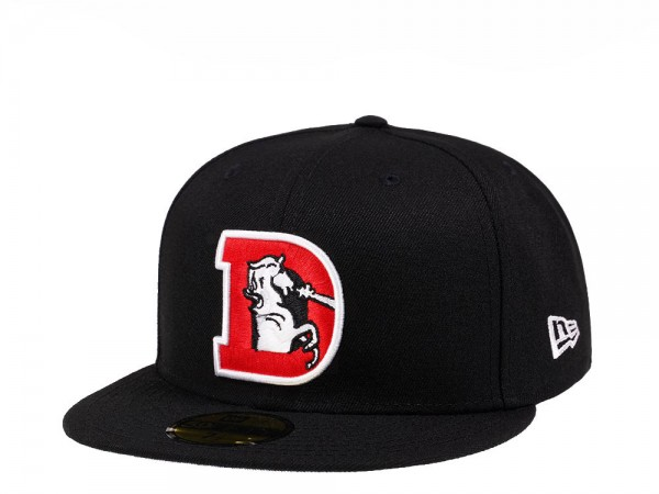 New Era Denver Broncos Throwback Black Crimson Collection 59Fifty Fitted Cap