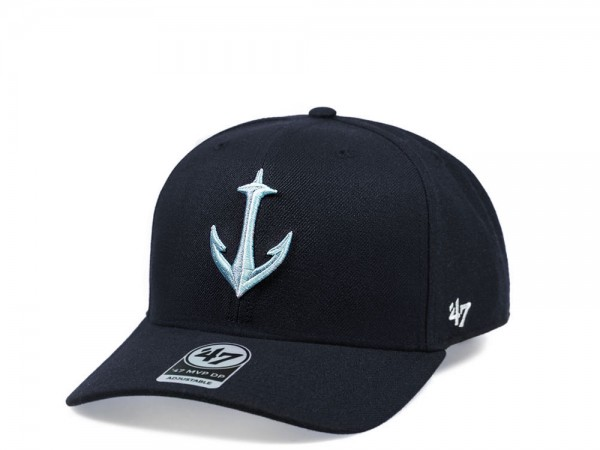 47Brand Seattle Kraken Alternate Cold Zone MVP DP Navy Snapback Cap