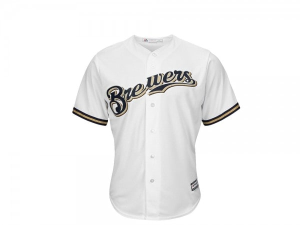 Majestic Milwaukee Brewers Cool Base MLB Trikot weiß