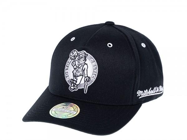 Mitchell & Ness Boston Celtics White & Black 110 Flexfit Snapback Cap