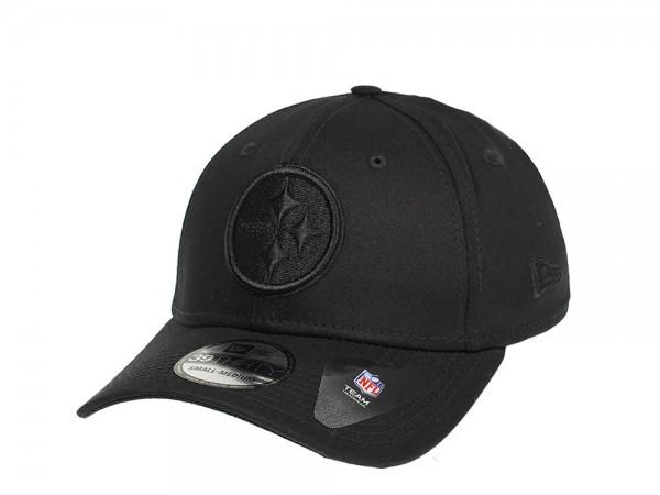 New Era Pittsburgh Steelers Black on Black Stretch Fit 39Thirty Cap