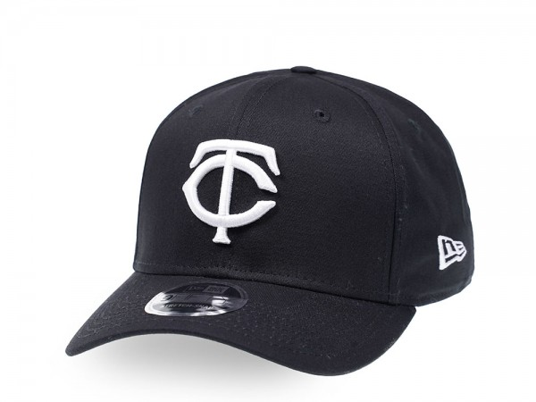New Era Minnesota Twins Black and White 9Fifty Stretch Snapback Cap