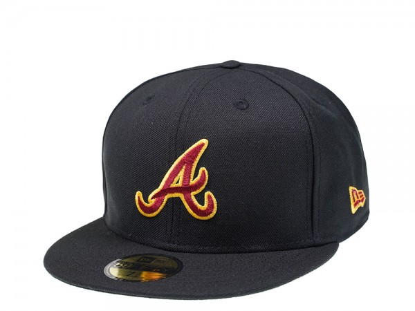New Era Atlanta Braves Black and Red Edition 59Fifty Fitted Cap