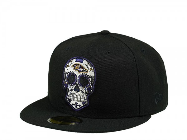 New Era Baltimore Ravens Skull Edition 59Fifty Fitted Cap