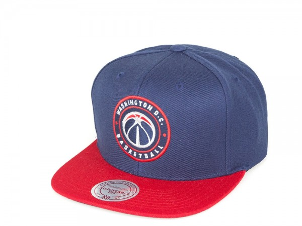 Mitchell & Ness Washington Bullets Circle Patch Blau Snapback Cap