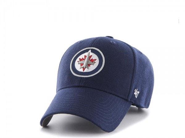 47brand Winnipeg Jets MVP Navy Strapback Cap