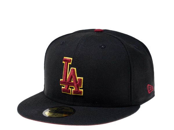 New Era Los Angeles Dodgers Cardinal Red Logo 59Fifty Fitted Cap
