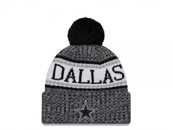 New Era Dallas Cowboys Black & White Sideline 2018 Mütze
