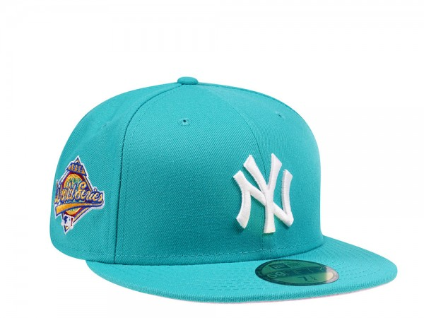 New Era New York Yankees World Series 1996 Teal and Pink Edition 59Fifty Fitted Cap