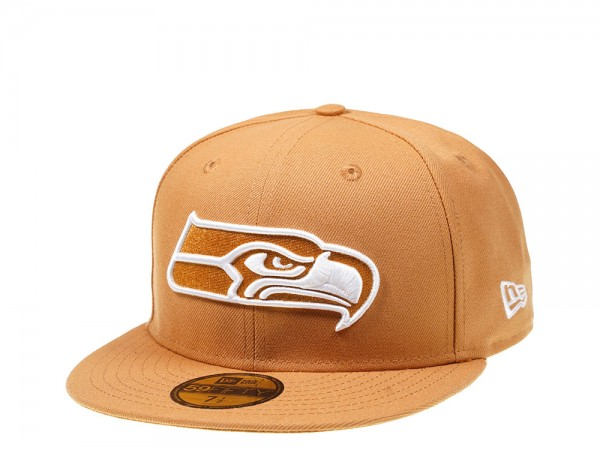 New Era Seattle Seahawks Panama Tan Edition 59Fifty Fitted Cap