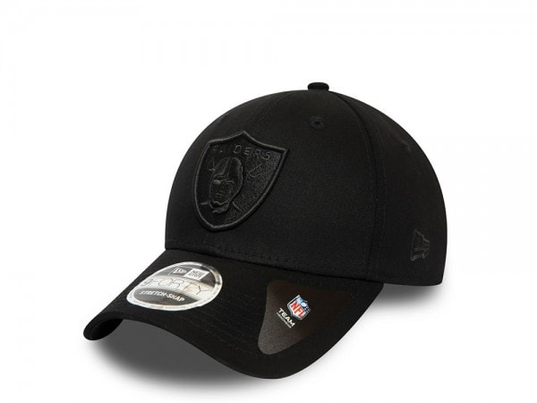 New Era Las Vegas Raiders All Black 9Forty Stretch Snapback Cap