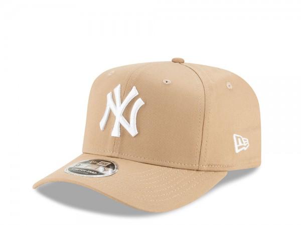 New Era New York Yankees Beige 9Fifty Stretch Cap