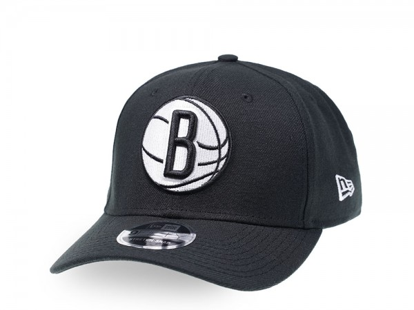 New Era Brooklyn Nets Black and White 9Fifty Stretch Snapback Cap