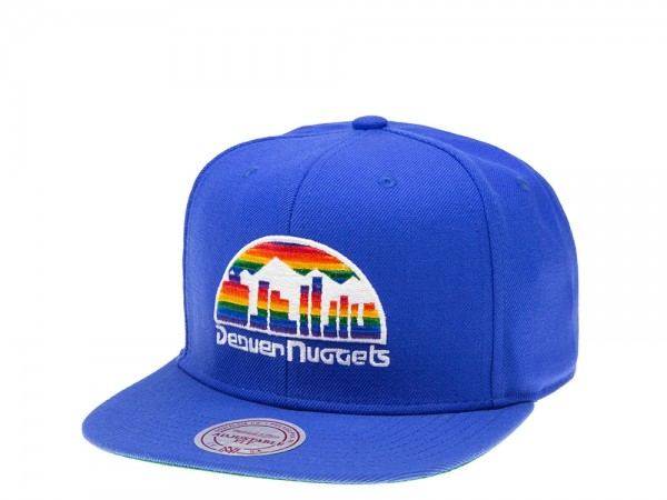 Mitchell & Ness Denver Nuggets Wool Solid Snapback Cap