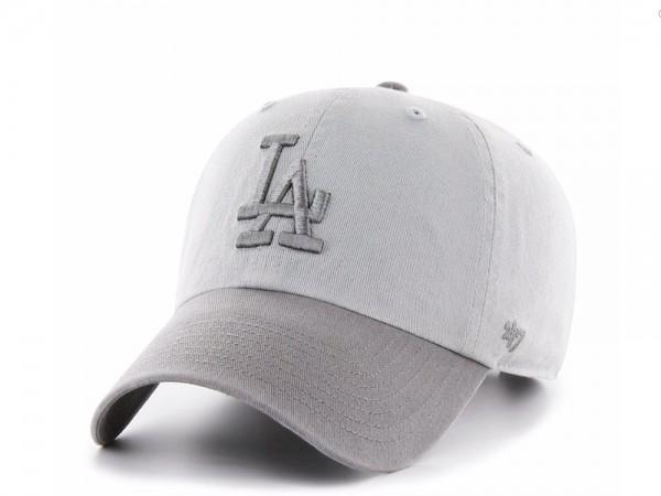 47Brand Los Angeles Dodgers Grey Clean up Strapback Cap