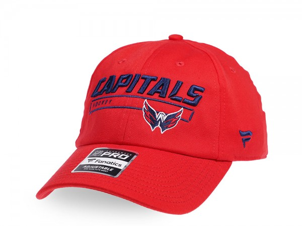 Fanatics Washington Capitals Authentic Pro Rinkside Adjustable Strapback Cap