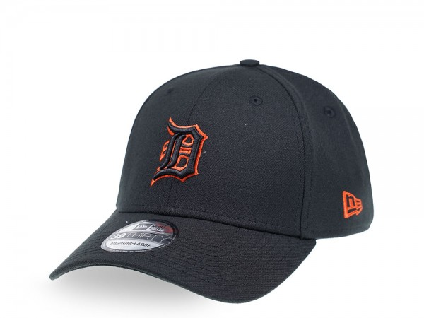 New Era Detroit Tigers Black Outline 39Thirty Stretch Cap