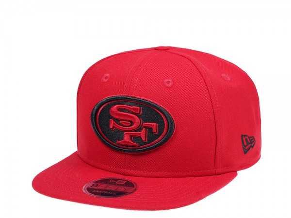New Era San Francisco 49ers Original Fit Scarlet 9Fifty Snapback Cap