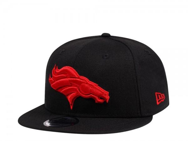 New Era Denver Broncos Black and Red Edition 9Fifty Snapback Cap