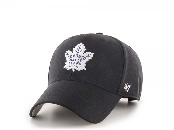47Brand Toronto Maple Leafs MVP Black Strapback Cap