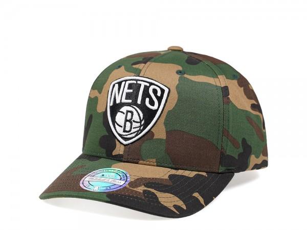 Mitchell /& Ness Brooklyn Nets Navy Red Edition 110 Flex Snapback Cap