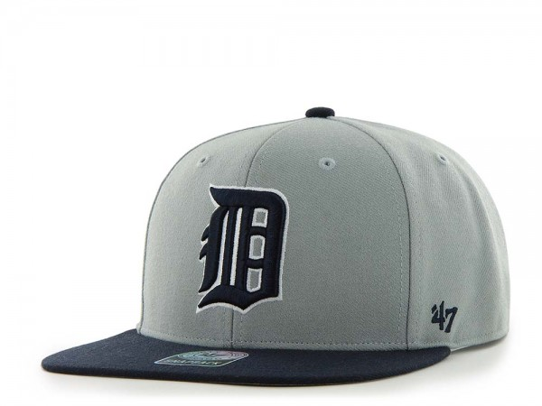 47Brand Detroit Tigers Sure Shot Captain Two Tone Gray Snapback Cap