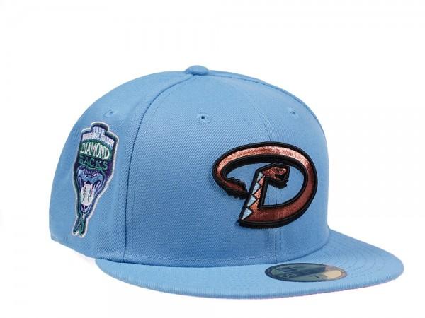 New Era Arizona Diamondbacks Inaugural Season 1998 Sky Blue and Pink Edition 59Fifty Fitted Cap