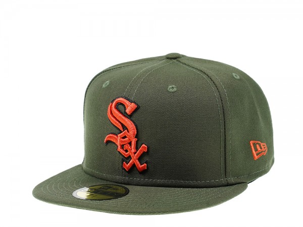 New Era Chicago White Sox Green x Orange Edition 59Fifty Fitted Cap